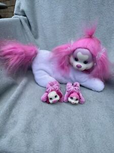 """Puppy Surprise """"Mandy"""" Plush Toy With 2 Puppies - White + Pink"""