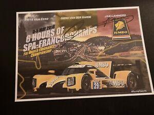 Racing Team Nederlands Spa Francorchamps 6 Hours 2018 Signed Card