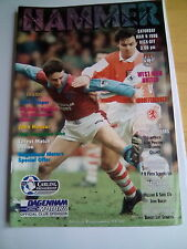 westham united v middlesbrough premiership 1996