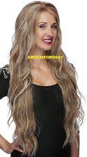 LONG WAVY LAYERED MEDIUM BLONDE MIX FULL LACE FRONT WIG HEAT OK HAIR PIECE