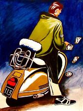 QUADROPHENIA CD PRINT poster the who vespa motor scooter townshend daltry moon