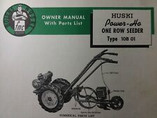 Bolens Huski Power-Ho Tractor Seeder Planter Implement Owner & Parts (3 Manual s