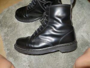 Dr. Martens 8-Eye Lace Up Boots Docs Combat Moto Black Men's Sz 11m 1460mono