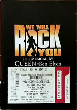 More details for we will rock you by queen & ben elton, palace theatre brochure 2009 + ticket