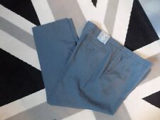 BHS Easy care Slim Fit Flat front Grey Trousers 44S New  #1*