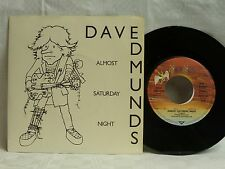 """7"""", Single, Dave Edmunds, Almost Saturday Night, You´ll Never Get Me Up, Mint-"""