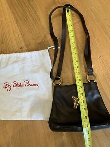 Authentic Pre Owned By Paloma Picasso Brown Leather Women's Shoulder Bag