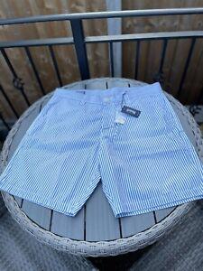 vilebrequin xl shorts blue and white stripes New