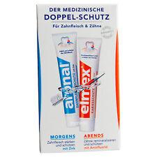 Aronal & Elmex Zahnpflege Taschenset Reiseset Handgepäck 2x12ml Duo toothpaste