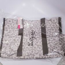 Thirty One Organizing Utility Tote 31 Shoulder Bag Say it Taupe RETIRED NEW