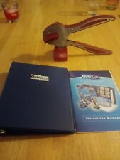 New listing Quickutz Die Cutter With Stand And Alphabet Dis In 3 Ring Binder