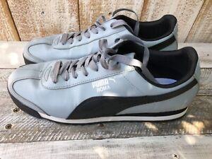 Men's Puma Roma Gray & Black Sneakers Sz 10