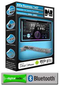Alfa Romeo 147 car stereo, JVC CD USB AUX + Bose & Stalk Adaptor