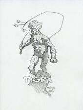 Mike Mignola Original Tygra ThunderCats Pencil Sketch