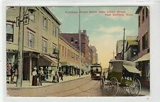 PURCHASE STREET NORTH, NEW BEDFORD: Massachusetts USA postcard (C20730)