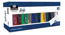 ROYAL Langnickel artista acrilico 12 X 75ml VERNICE Tubo Box Set. COLORI assortiti