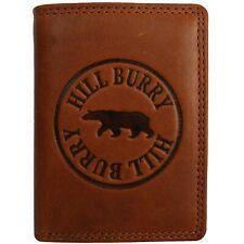 Geldbörse Portemonnaie HILL BURRY Büffelleder Used Look Rot Vintage 5026
