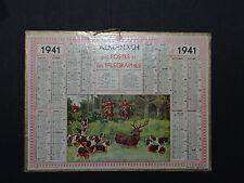 Calendrier Almanach 1941 chasse à courre calendar France calendario Kalender