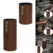 New listing Gas Canister Cover Wooden Gas Fuel Cylinder Tank Cover Bag Camping Equipment