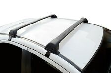 Aerodynamic Roof Rack Cross Bar for Honda Accord Euro 08-15 Black Flush End