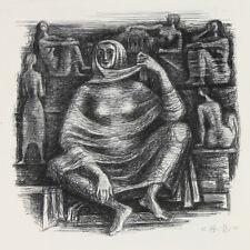Wilhelm Pfeiffer. Figuren-/Aktstudien. Lithografie 1975.