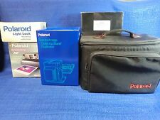 POLAROID SPECTRA AF CAMERA PLUS CLOSE UP STAND DUPLICATOR, LIGHT LOCK, BAG NEW