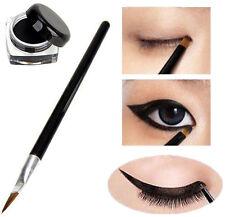 Hot Pro Waterproof Eye Liner Eyeliner Shadow Gel Makeup Cosmetic + Brush Black P