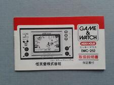 NINTENDO GAME&WATCH MICKEY MOUSE MC-25 ORIGINAL JAPAN INSTRUCTION MANUAL
