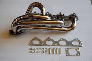 89-95 FOR Volvo T3 stainless turbo manifold header 16v B23 B20 B230 2.4