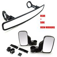 "2"" UTV Side & Rear View Mirrors For Honda Talon 1000R 1000X Can Am Commander"