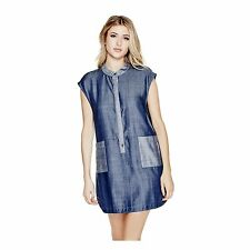 Guess Women  Blue Cotton Shirt Dress size XS,S,M