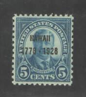 US Sc 648 5c Hawaii Overprint OG VF MNH