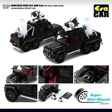 ERA Car 1/64 Mercedes-Benz G63 AMG 6x6 (Black) With Dairy Cattle Family Limited