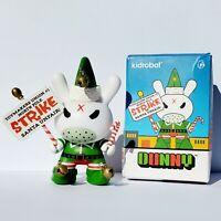 "Kidrobot Dunny 3"" Holiday Grumpy Elf Kozik Vinyl Figure Art ToyChristmas"