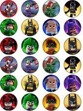 Batman Lego Movie Superhero Edible ICING Cupcake Topper Party Decoration