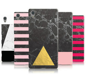MARBLE COLLECTION GEOMETRIC HARD MOBILE PHONE CASE COVER FOR SONY XPERIA L1