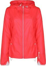 NEW Women's Designer BENCH Pack-Away Nylon Windbreaker Sz S/Red Great Gift Idea~