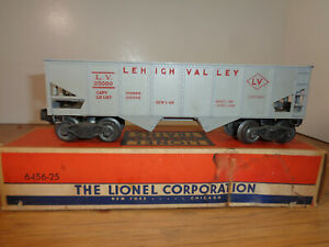 LIONEL O GAUGE # 6456-25 GRAY LEHIGH VALLEY HOPPER CAR AND BOX