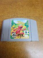 Sesame Street: Elmo's Letter Adventure (Nintendo 64, 1999)(Tested)