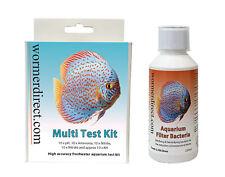 Aquarium Multi Test Kit High Accuracy Tablet Test & Filter Bacteria 250ml