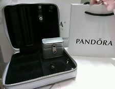 New Authentic Pandora Travel Jewelry Box-Storage w Rings Box.Jewelry no included