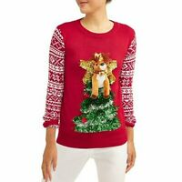 NWT No Boundaries Junior Women Medium 2XL Holiday Pop-Out Ugly Christmas Sweater