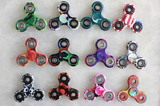 Wholesale Lot 20x Fidget Hand Tri Spinner Finger Toy Kids Camouflage Camo Color