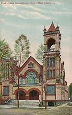 First United Presbyterian Church New Castle PA Postcard