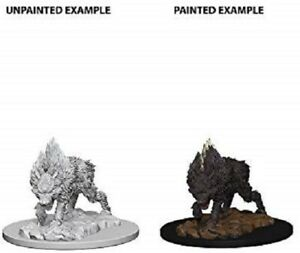 Pathfinder Unpainted Minis Wv4 Dire Wolf New Miniatures RPG