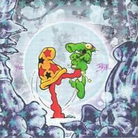 Cheech Wizard Blotter Art Signed by Bodē