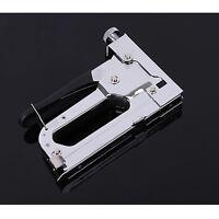 Staple Gun Heavy Duty Upholstery Wood Ceiling Stapler Nails  3 Way Tacker Kit