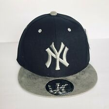 NEW Mens New York Yankees Baseball Cap Snapback Hat Black Gray Adjustable