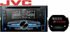 JVC KW-R520 CD MP3 Double Din Car Stereo USB Tuner Front Aux In Car Radio