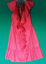 BEBE orange halter ruffle dress size large